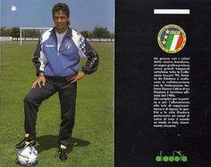Giacca DIADORA Calcio Italia '90 ROBERTO BAGGIO Jacket Vintage World Cup size L
