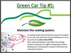 Green tip #5: Think of your engine and maintain the cooling system. #CarCare