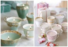 Decora tu boda con porcelana: tazas y teteras vintage