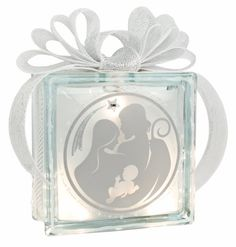 Holy Family Glass Block #glassblock #craft #christmas