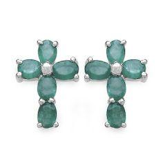 2.00 Carat Genuine Emerald Cross Shape Sterling Silver Earrings, http://www.amazon.com/dp/B008XX5DPI/ref=cm_sw_r_pi_awdm_DCXytb0XX2CPJ