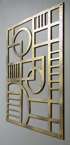 Art Deco Modern Aluminum Sculpture 12 X 17 Available in 25 colors