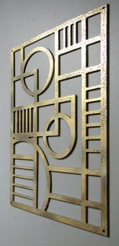 Art Deco Modern Aluminum Sculpture 12 X 17 Pale Gold by studio724