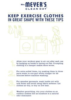 The New Year is a great time to get active. Use these tips to keep your exercise clothes in great shape.