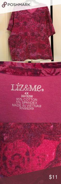 Liz & Me top Nice top. 95% cotton 5% spandex. Good condition Liz & Me Tops Blouses