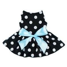Cute Polka Dot Ribbon Dog Dress Dog Clothes Cozy Dog Shirt Pet Dress, X-Small - http://www.thepuppy.org/cute-polka-dot-ribbon-dog-dress-dog-clothes-cozy-dog-shirt-pet-dress-x-small/