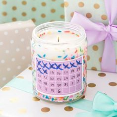 Make a wedding countdown candle for the bride-to-be.