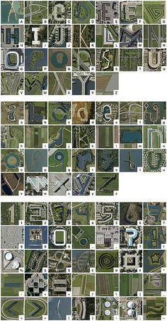 Google Earth alphabet - The Netherlands