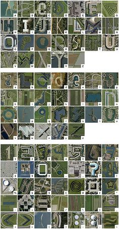 Google Earth alphabet - The Netherlands