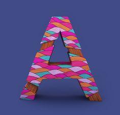 'Alphabet Pattern' by Angélica Porfirio on Behance