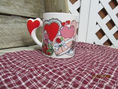 Vintage Valentine's Day You're Special Hearts Coffee Tea Cup Mug 1988 The Love Mug Worthington Ohio by EvenTheKitchenSinkOH on Etsy