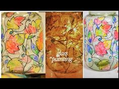 Hi , In this video I am using fevicryl glass colour Black outline Black marker. First create your own design on jar with the help of marker,then fill glass c. Mom Birthday Gift, Craft Work, Creative Crafts, Colored Glass, Gifts For Mom, Paint Colors, The Help, Easy Diy, Projects To Try