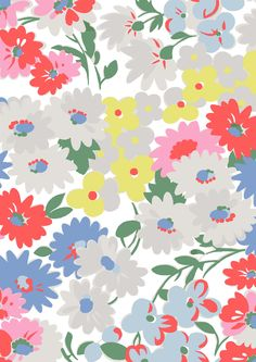 Daisy Bed | Pretty little daisies inspired by flowerbeds in full bloom | Cath Kidston S16 |