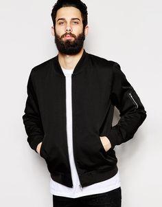 ASOS Bomber Jacket in Black