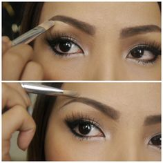 Learn how to have perfectly shaped eyebrows. A tutorial for beginners!