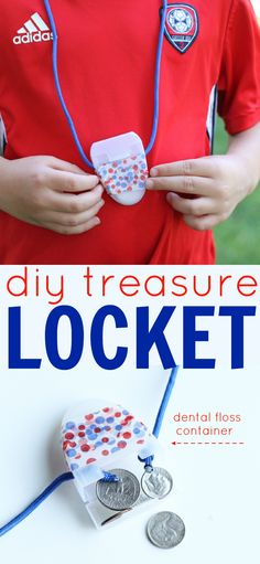 Recycle a dental floss container to make this fun locket that is the perfect size to hold coins and other small treasures.  A great way to repurpose something that is currently un-recyclable.  The post also includes some tips on recycling in the bathroom, one of the most forgotten places in the home as part of the #CaretoRecycle initiative.  (sponsored)