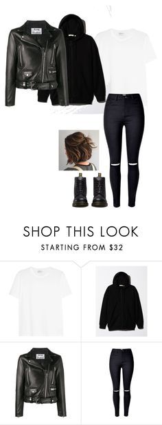 """""""Min Jeon- Suffocated 1"""" by ifrancesconi on Polyvore featuring Yves Saint Laurent, Acne Studios and Dr. Martens"""