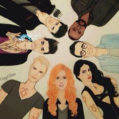 Fan art the shadowhunters tv show!!! Look so great!