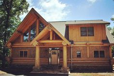 Bearwood constructed by Coleman Log Homes of Blue Ridge Georgia.