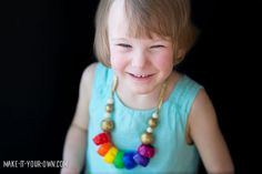 Recycled Rainbow Necklace with make-it-your-own.com