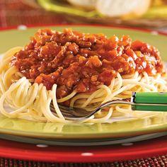 Spaghetti, sauce à la viande et aux légumes - Soupers de semaine - Recettes 5-15 - Recettes express 5/15 - Pratico Pratique