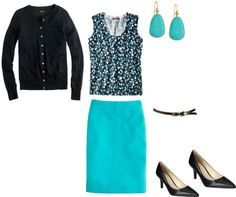 """""""Black and Turquoise"""" by miigwan ❤ liked on Polyvore"""