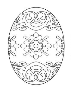 Printable Easter Egg Coloring Page Free
