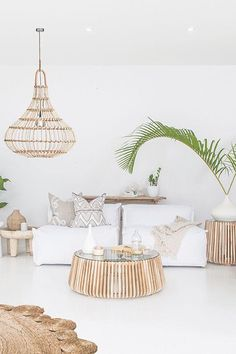 Featuring Uniqwa's Masekela Sofa 🍃✨ Lindi Coffee ➳ Yaana Pendant Light ➳ Styling & Photography 📷 ➳ Cushions by ♡✔ White Room Decor, Living Room White, Boho Living Room, Decor Room, Living Room Decor, Living Spaces, Coastal Living Rooms, Design Furniture, Chair Design