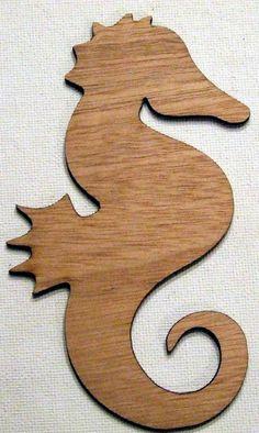 Laser Cut Wood Sea Horse by nanaslittlenest on Etsy, $6.25