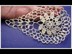Crochet motif tutorial for doily EASY Irish lace droplet. Beach Crochet, Crochet Art, Irish Crochet, Crochet Motif, Crochet Doilies, Crochet Flowers, Crochet Patterns, Knitting Squares, Crochet Earrings Pattern