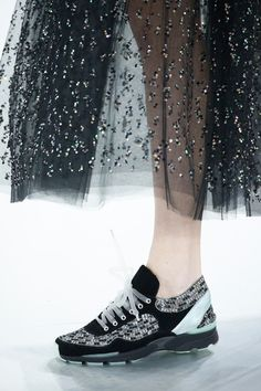 Sequin embellished sportive sneaker | Chanel Haute Couture Spring 2014 PFW.