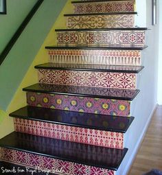 Using Stencils to Stencil Stair Risers