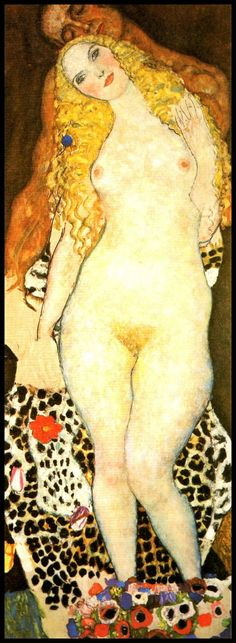 By Gustav Klimt 1917 Adam and Eve, Erotic Art, Nude Art, Lingerie, Erotic Nudity, Burlesque , Female Nudity, Erotic Drawing, Erotic Print, Sensual, Nude, Fantasy, Fetish  Born in 1862, Austrian painter Gustav Klimt became known for the highly decorative style and erotic nature of his works, which were seen as a rebellion against the traditional academic art of his time.  Book page 10 1/2 x 14 inches - print 3 3/4 x 10 1/2 inches In great vintage condition, carefully retrieved b...