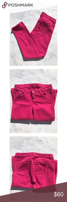 Micheal Kors pink jeans Gently worn. No tears, no rips, no stains. Size 4. The perfect pant! Michael Kors Jeans Ankle & Cropped
