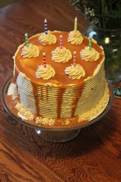 Gluten Free Butterbeer Cake | Small Town Living in Nevada