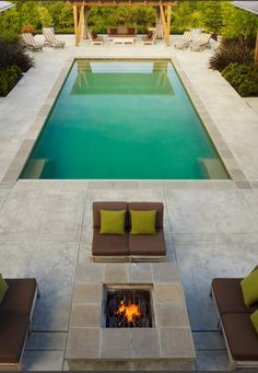 Great pool and fire pit