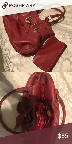 Custom handmade Italian Leather Handbag Purse purge at my house! I had this bag made in Florence, Italy! Dark red, center zip divider, multiple interior pockets, small attached coin purse, brass trim. Easy to access what you need and just a beautiful rich leather. Varapells Bags Satchels