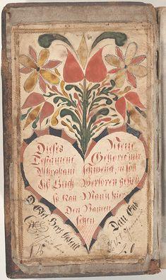 Bookplate (Bücherzeichen) for Abraham Schwenck - Fraktur