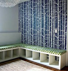 Cool bookcase bench