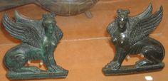Sphinx - Bronze trimmings for roman furniture, from Pompeii and Herculaneum - Naples Archaeological Museum