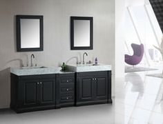 "Odyssey 88"" Double Sink Vanity - Design Element - DEC101"