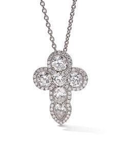 Rosendorff Essentials Collection Brilliant Diamond Cross Pendant