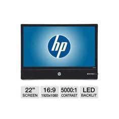 HP Elite L2201x 22 Class Widescreen LED Backlit HD Monitor - 1920 x 1080, 16:9, 5000:1 Native, 16ms, DisplayPort Interface, Energy Star.