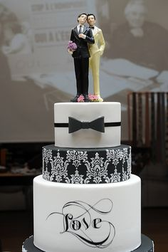 gay wedding cake images - Google Search Leave off the guys on top?