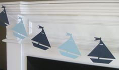 Sailboat Nautical Theme Baby Shower or Birthday Garland Banner - You Pick Your Colors - Free Ship Over 40.00 on Etsy, $18.00
