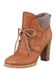 Tuesday, August 21st: See by Chloe Knit-Cuff Bootie - this is so not me but could be so fun for winter!