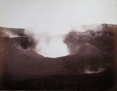 Sommer, Giorgio:  Vesuvio Cratere, 1880.