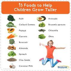 Foods that help Grow taller