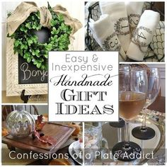 easy and inexpensive handmade gift ideas, seasonal holiday d cor, There s nothing more special than a handmade gift and here s where you will find links to tutorials for 12 easy and inexpensive projects that make prefect holiday gifts