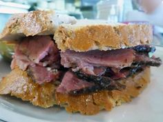 We Travel for the YUM! The 8 Best Sandwiches Across the U.S. / Best Pastrami Sandwich Ever../ Langer's Deli in L.A.